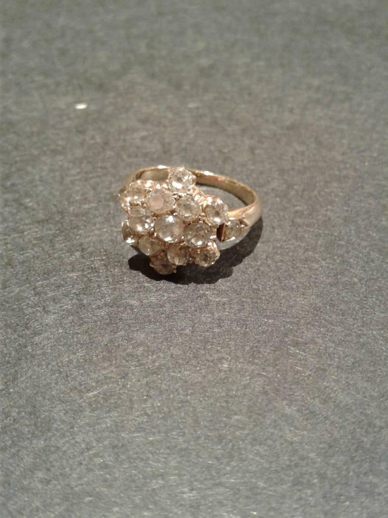 """Vintage Mine Cut Diamond Ring """"Flower"""""""