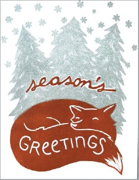Single Card - Holiday Fox