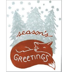 6-ct. Boxed Card Set - Holiday Fox