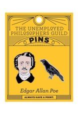 Unemployed Philosophers Guild Edgar Allan Poe and Raven Enamel Pin Set - 2 Unique Colored Metal Lapel Pins