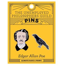 Unemployed Philosophers Guild Edgar Allan Poe Enamel Pin, Set of 2