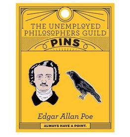 Unemployed Philosophers Guild Edgar Allan Poe Enamel Pin, Set of 2