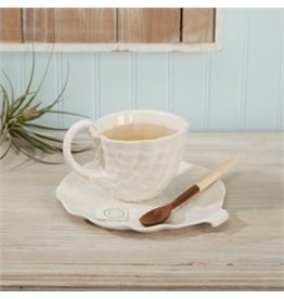 Shell Tea Cup and Saucer