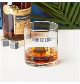 Anchors Aweigh- Double Old-Fashioned Glass