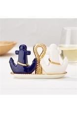 Golden Anchor Salt & Pepper Set