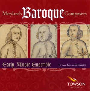 CD- Maryland's Baroque Composers