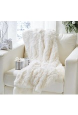 White Faux Fox Throw