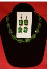 Collet Necklace - Peridot Green