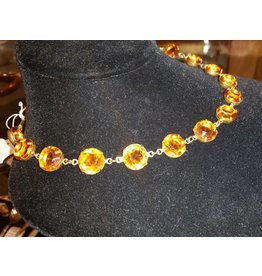 Collet Necklace - Topaz