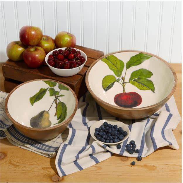 Harvest Serving Bowl, Large/Apples