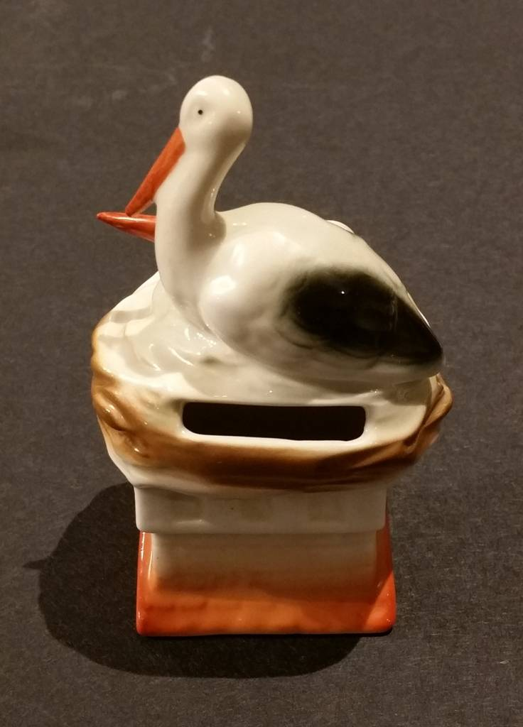 Porcelain Stork Bank