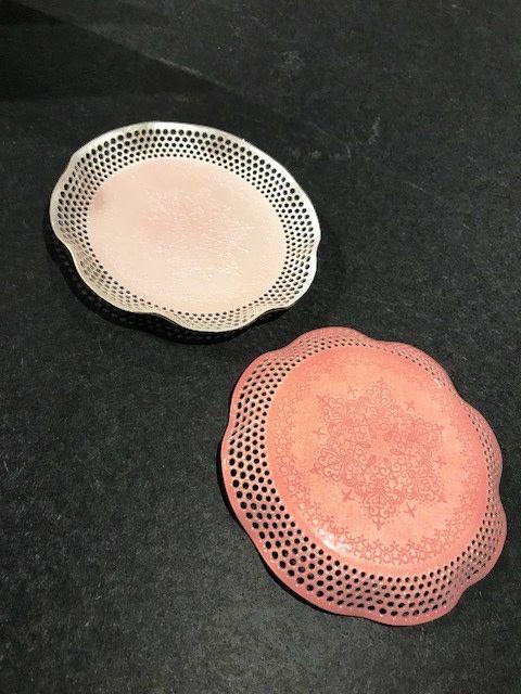 Pink Porcelain Enamel Dish
