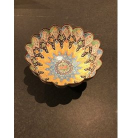Painted Tin Bowl, Middle Eastern
