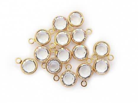 Crystal Birthstone, Gold or Silver