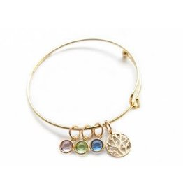 Family Tree Bangle, Gold