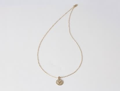 """Family Tree Necklace (22""""), Gold"""