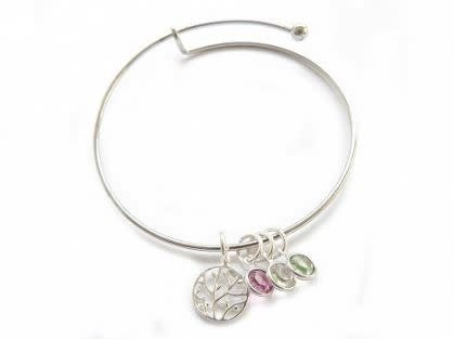 Family Tree Bangle, Silver