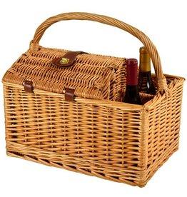 Vineyard Picnic Basket for Two, Diamond Orange