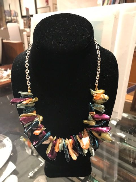 Multi-colored Mother of Pearl Necklace