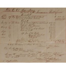 1872 Credit & Debit Slip, Harding