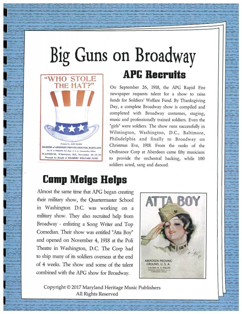 "Book ""Big Guns on Broadway"""