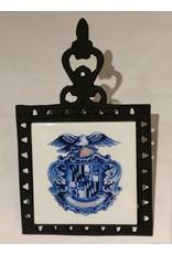 Delft MD Shield Cast Iron Trivet