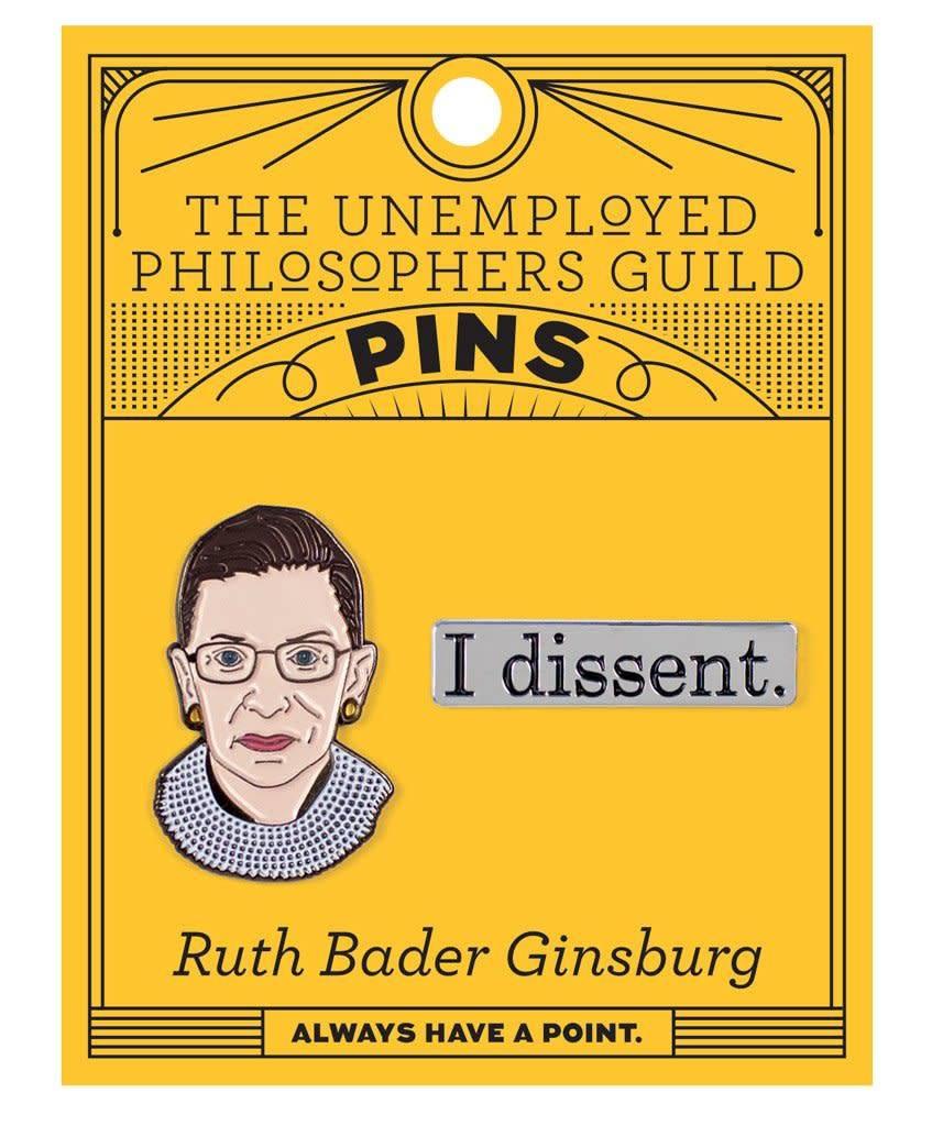 Ruth Bader Ginsburg Enamel Pin, Set of 2