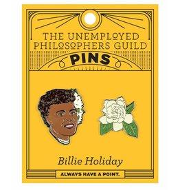 Unemployed Philosophers Guild Billie Holiday & Gardenia Pin Set