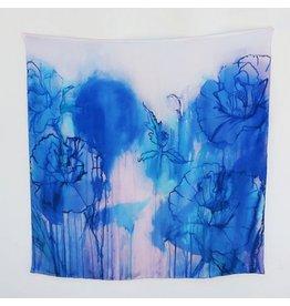 Amanda Johnson Studio Grande Silk Scarf, Himalayan Poppy