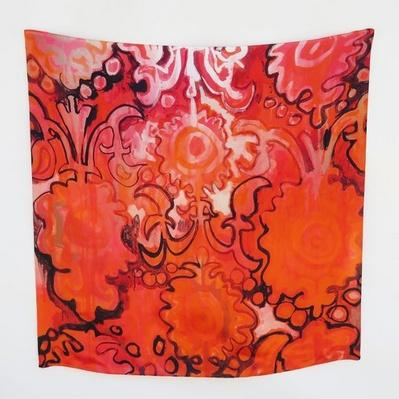 Amanda Johnson Studio Grande Silk Scarf, Royal Damask