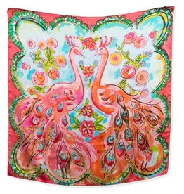 Amanda Johnson Studio Silk Scarf, Love Birds