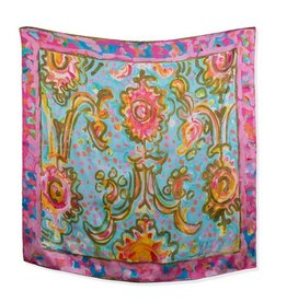 Amanda Johnson Studio Silk Scarf, Utopia