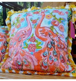 Amanda Johnson Studio Throw Pillow, Love Birds