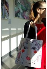 Amanda Johnson Studio Girl Gang Tote Bag, Brunette/Purple