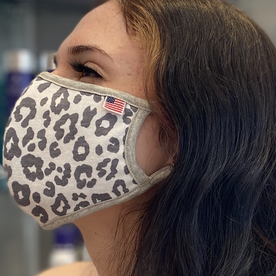 MOLA USA MADE COTTON GREY CHEETAH MASK