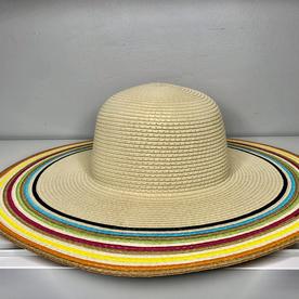 NATURAL/MULTI COLORED  SUN HAT
