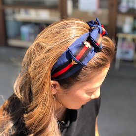 DTLA DESIGNER HEADBANDS WITH BOW - BLUE