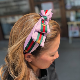 DTLA DESIGNER HEADBANDS WITH BOW - PINK