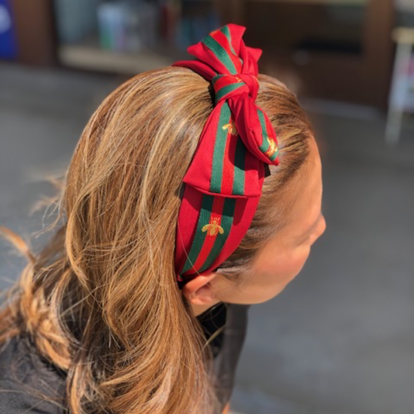 DTLA DESIGNER INSPIRED HEADBAND WITH RED BOW
