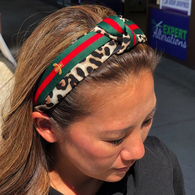 DTLA DESIGNER HEADBANDS WITH BOW - CHEETAH