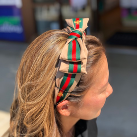 DTLA DESIGNER HEADBANDS WITH BOW - TAN