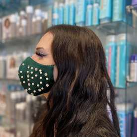 DTLA GREEN PEARL AND DIAMOND FACE MASK