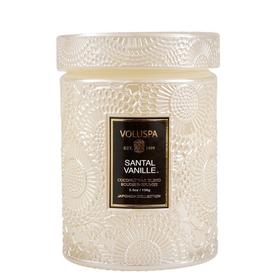 VOLUSPA VOLUSPA SANTAL VANILLE GLASS JAR CANDLE WITH LID