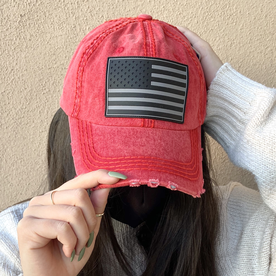RED AMERICAN FLAG HAT