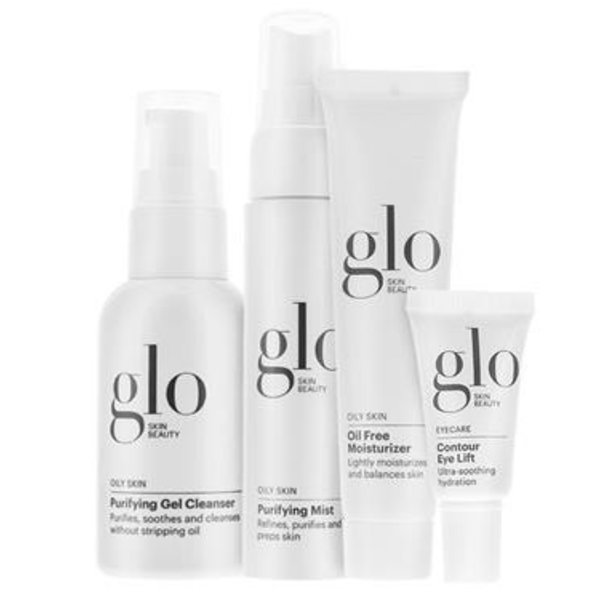 GLO SKIN BEAUTY GLO SKIN BEAUTY OILY 4 PIECE SKIN SET