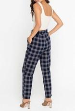 High Waisted Plaid Pants
