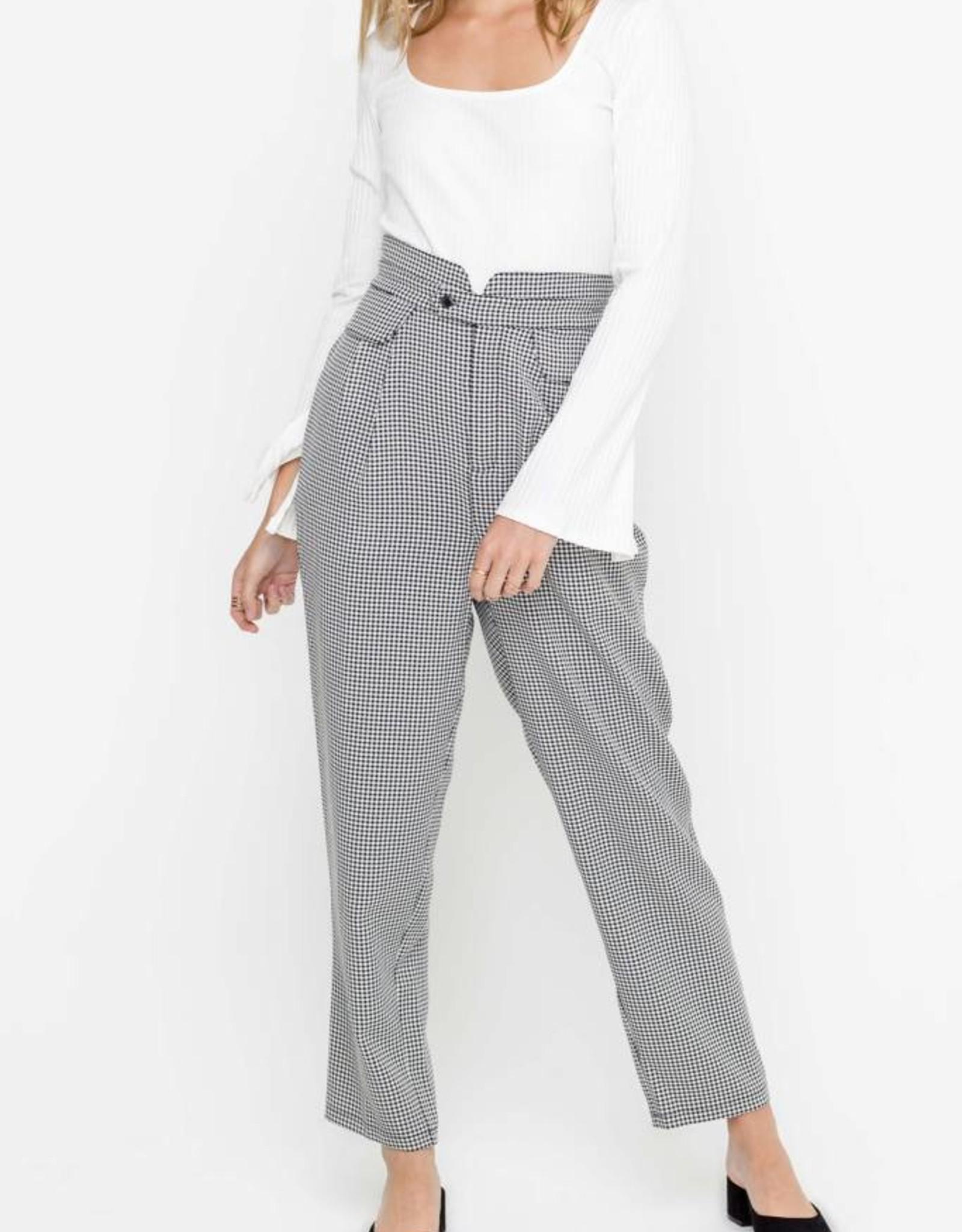 Gingham Paper Bag Pants