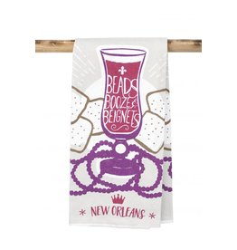 Kitchen Towel -Beads Booze Beignet
