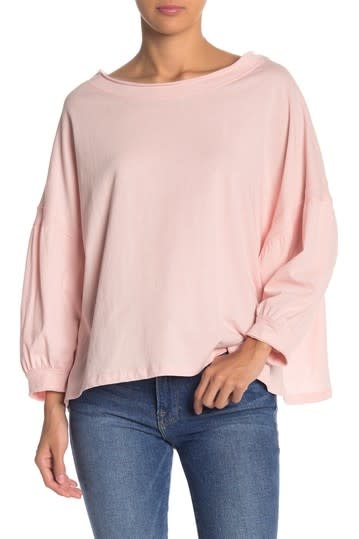 FREE THE ROSE Dolman Sleeve Cotton Tencel Top