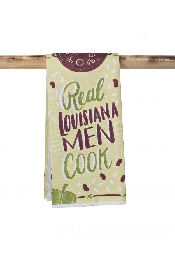 Kitchen Towel-Real Louisiana Men Cook